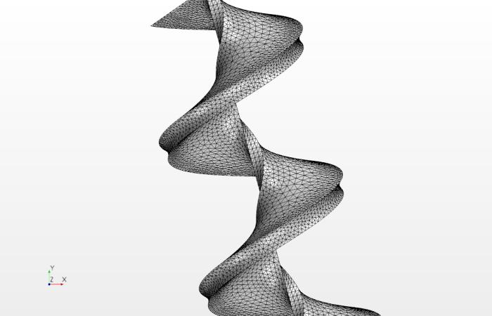 Just a quick spiral shape.