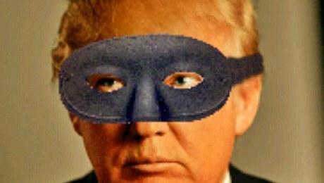 Trump in black mask.