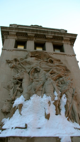 Snow sculpture.