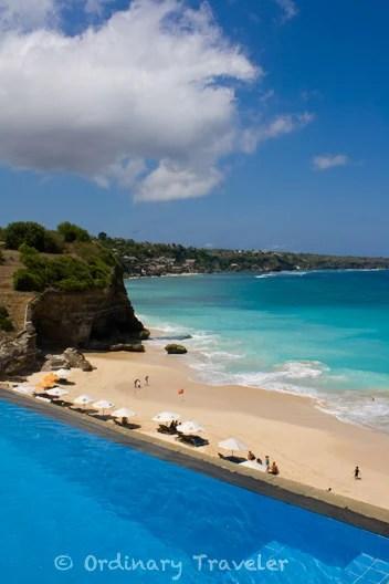Dreamland Beach on the tropical island of Bali, Indonesia