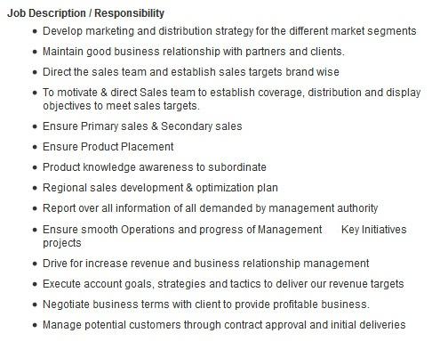 High Quality Accounts Manager Job Description