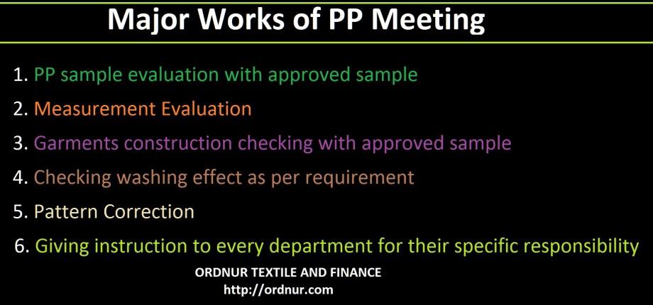 Major Works of PP Meeting