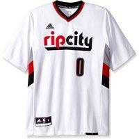 NBA-Portland-Trail-Blazers-Damian-Lillard-0-Mens-Replica-Jersey-Small-White-0
