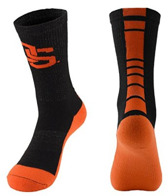 NCAA-Oregon-State-Beavers-Champ-Preformance-Crew-Socks-Medium-Black-0