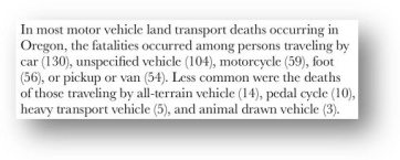 Oregon Vital Statistics Annual Report 2009 Vol. 2 pg 6 18 How the Violence Policy Center deceives with numbers