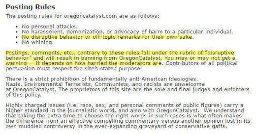 OC Posting Rules