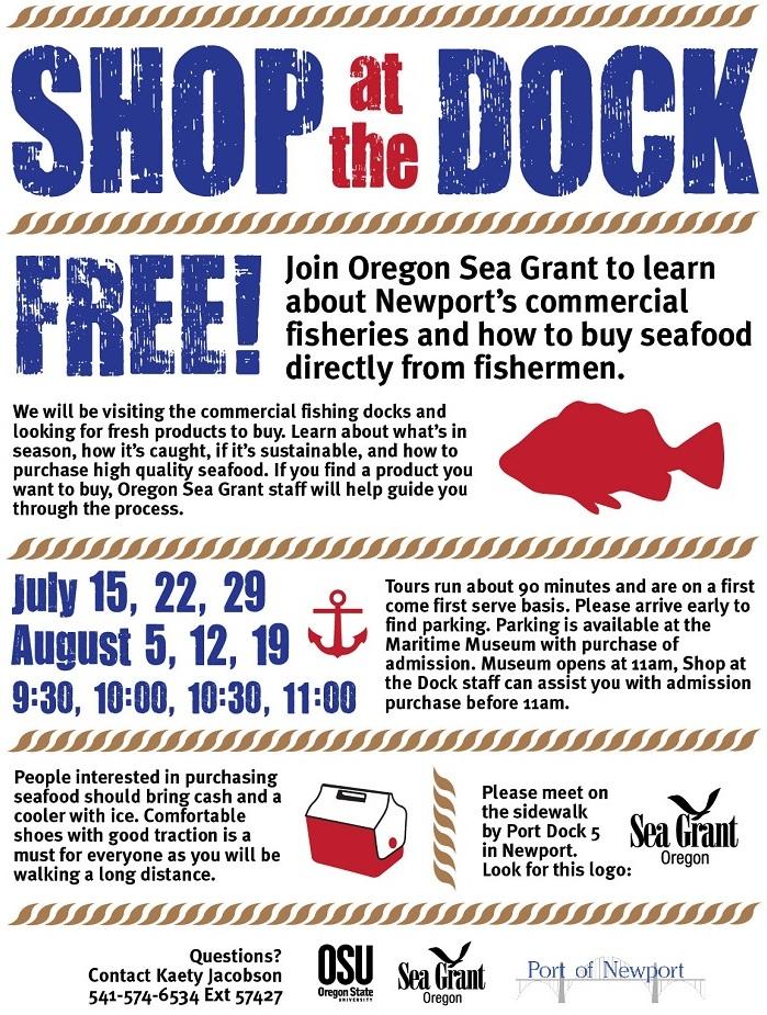Aug2016 Shop at the Dock - Sea Grant Oregon Port Dock 5 Port of Newport Flyer