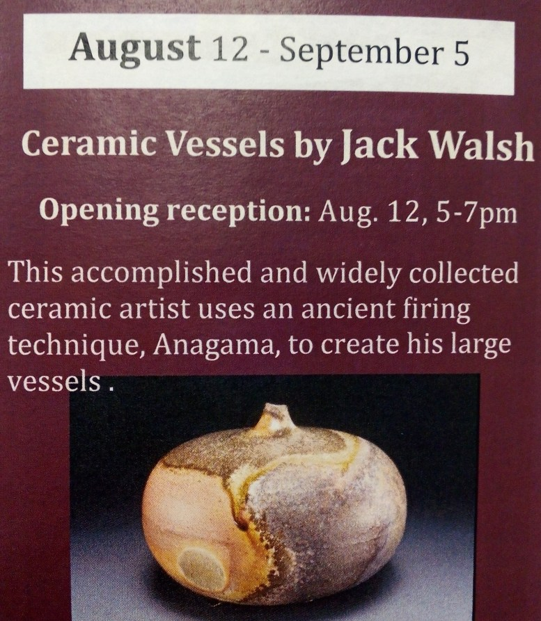Ceramic Vessels by Jack Walsh Chessman Gallery August
