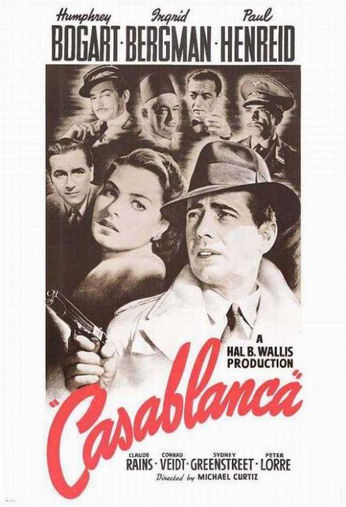 Affiche du film Casablanca de Michael Curtiz (1942)