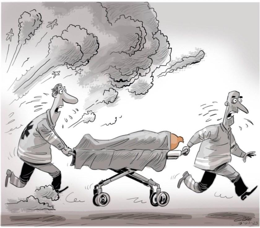 Caricature, André-Philippe Côté, la Presse+, 23 mars 2016