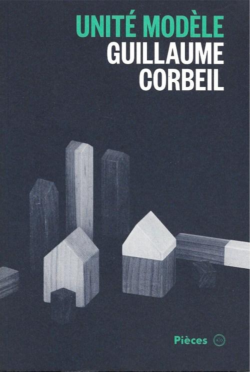 Guillaume Corbeil, Unité modèle, 2016, couverture