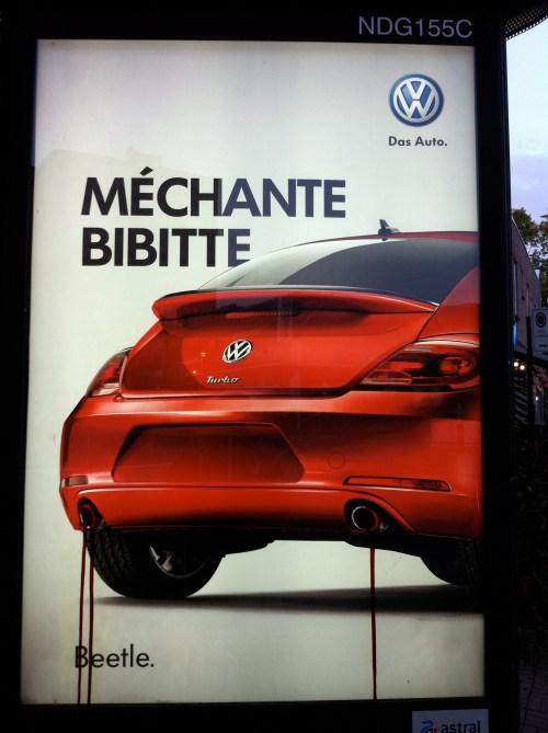 «Méchante bibitte», publicité de Volkswagen, 2011