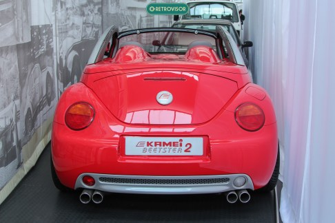 Kamei Beetster 2 - Um New Beetle Roadster com motor V5. O carro estava atrás de uma cortina durante a nossa visita