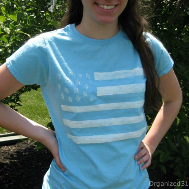 Organized 31 - Easy Painted Flag Tee