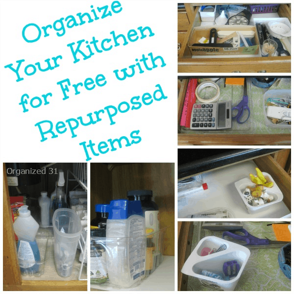 Organized 31 - Organize Your Kitchen for Free with Repurosed Items