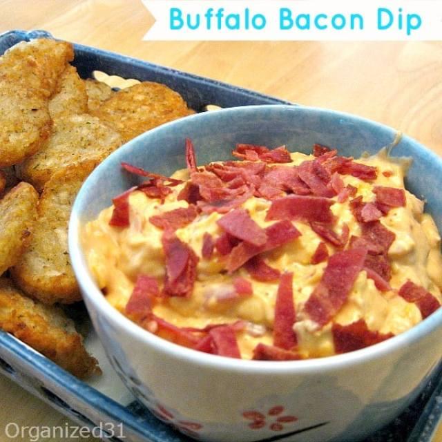 Organized 31 - Party Appetizer Buffalo Bacon Dip