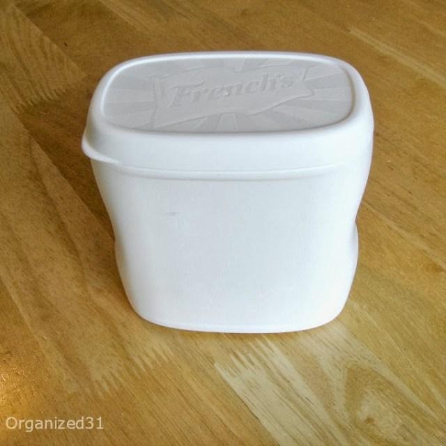 Repurposed Plastic Container Snowman Gift Box - Organized 31