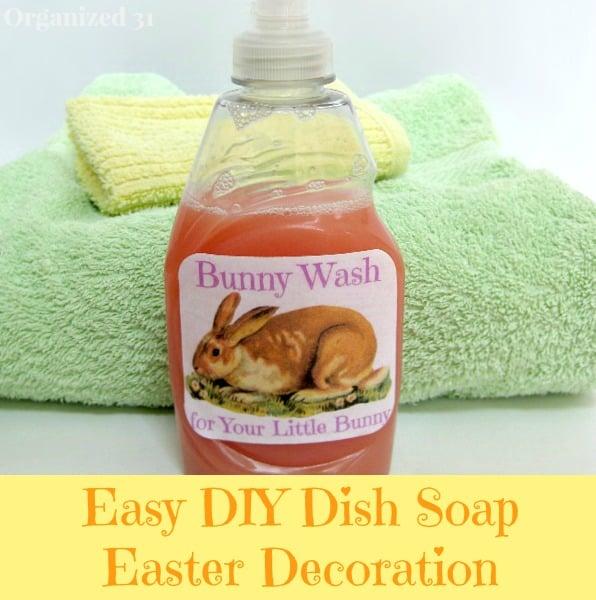 Easy DIY Bunny Wash - Organized 31