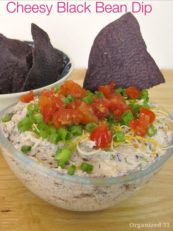 Cheesy Black Bean Dip for Cinco de Mayo - Organized 31