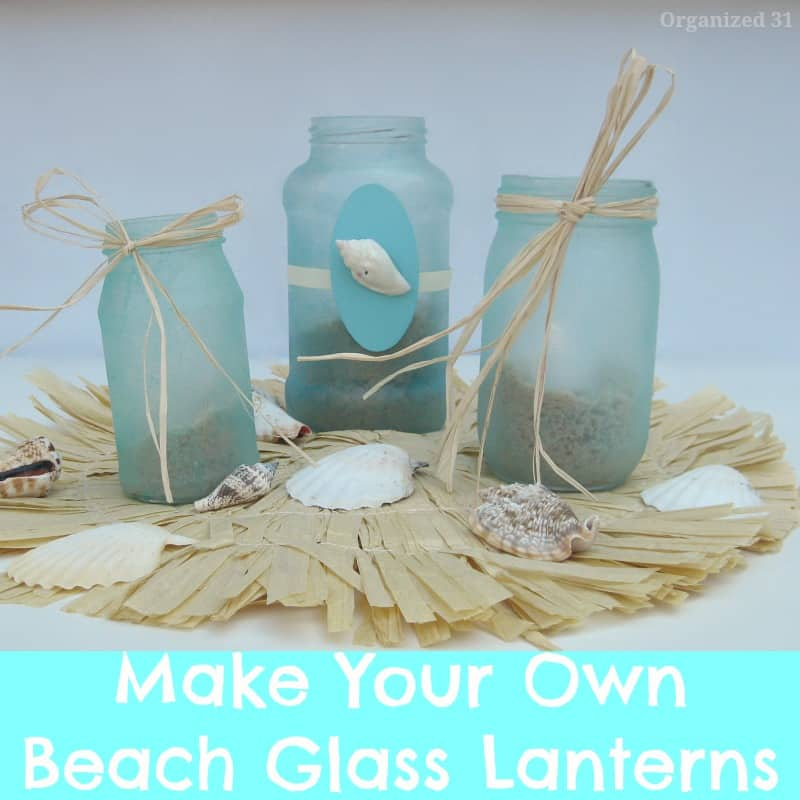 Hawaii Beach Glass Party Lanterns - Organized 31
