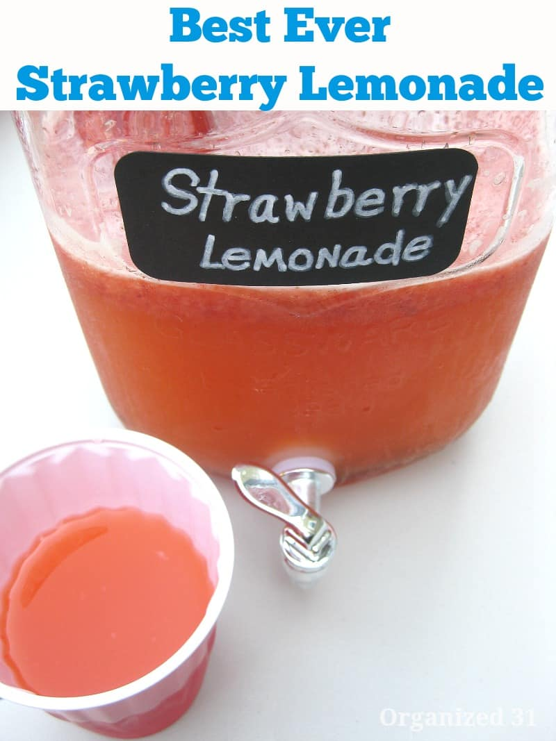 Best Strawberry Lemonade Ever - Organized 31