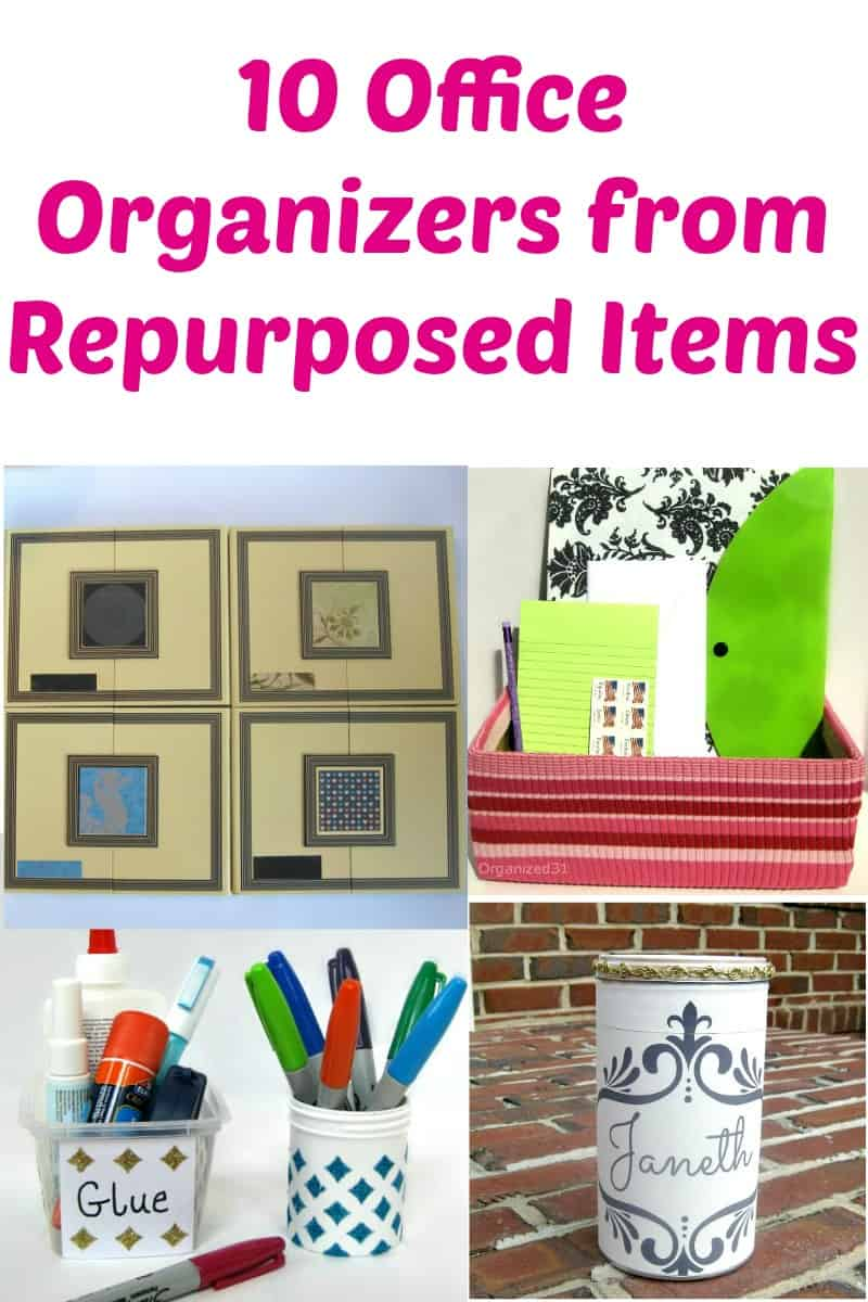 Office Organizers from Recycled Items - Organized 31