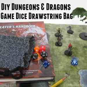 DIY Dungeons & Dragons Drawstring Bag - Organized 31