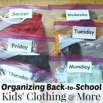 Organizing Back-to-School Kids' Clothing