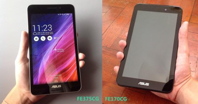 Asus Fonepad 7 FE375CG VS FE170CG pic