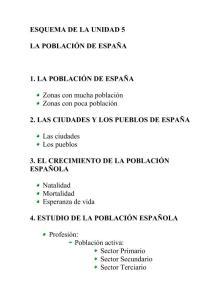 TEMA 4 LA POBLACIÓN DE ESPAÑA
