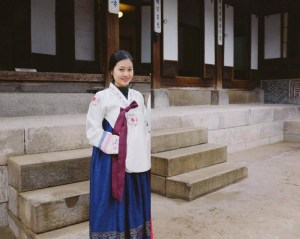 Korean traditional outfit, Hanbok. Near gyeongbokgung, there are lots of places rent hanbok for traveler!