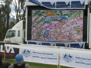 Live GPS tracking in the spectator arena for the first time in Australia