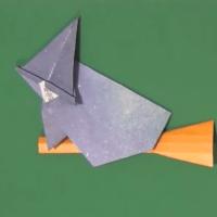【折り方】ハロウィンの魔女の折り方動画