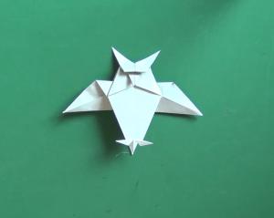 ふくろうの折り紙