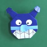 バイキンマンの折り紙