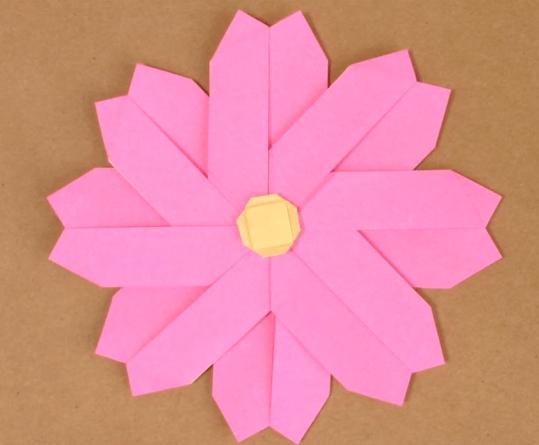 ハート 折り紙:コスモス 折り紙 折り方-origaminomori.com