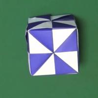 【折り方】ミラーキューブの箱(ハコ)の折り紙の折り方動画