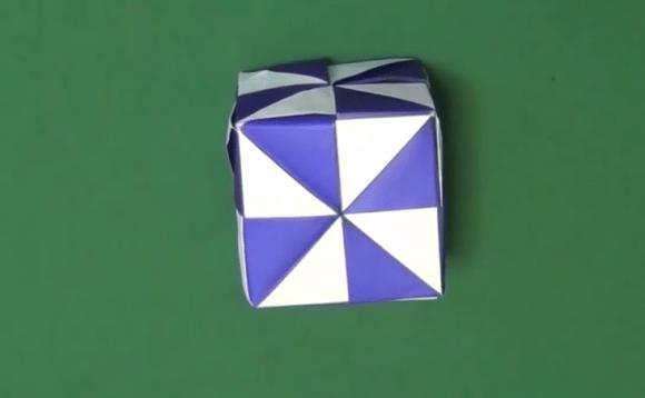 ミラーキューブの箱の折り紙