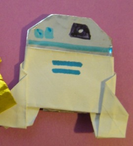 Instructions for Origami R2D2! Plus a contest! Happy Life Day! #starwars #origami (1/4)
