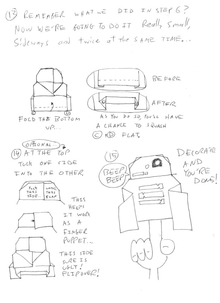 Instructions for Origami R2D2! Plus a contest! Happy Life Day! #starwars #origami (4/4)