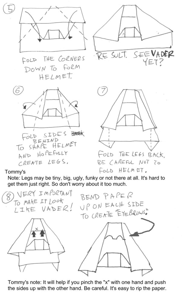 Origami Yoda II: Darth Paper Strikes Back! Folding Instructions + Contest! #starwars (3/4)