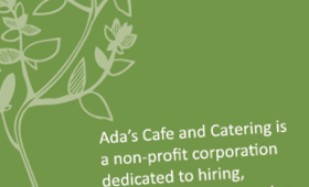 Palo Alto cafe business card | Ada's Cafe