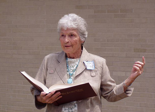 Lorraine Miles McFarland, Awake My Soul cover girl, in 2010—eighty years after the 1930 Mineral Wells Sacred Harp Singing Convention.
