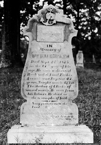 Grave of William Walker, Spartanburg, South Carolina, before 1939. Photograph from the collection of George Pullen Jackson.