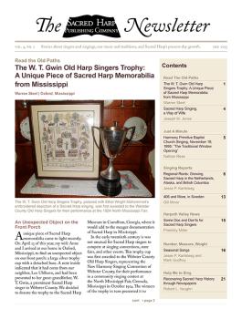Printable version of the Sacred Harp Publishing Company Newsletter, Vol. 4, No. 1 (3.2 MB PDF).
