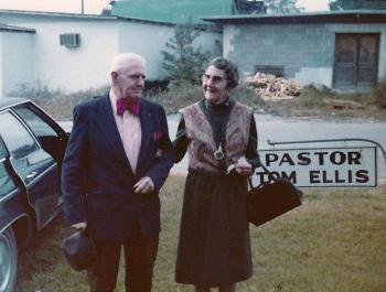 "Double first cousins Robert E. ""Bob"" Denson and Ruth Denson Edwards, 1960s."