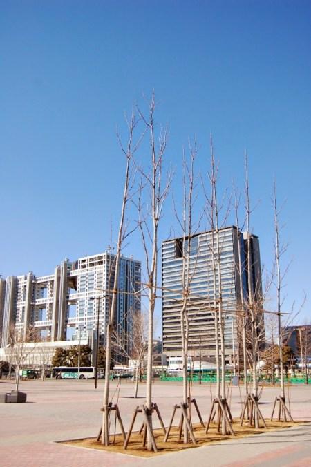 Il Fuji tv building di Odaiba