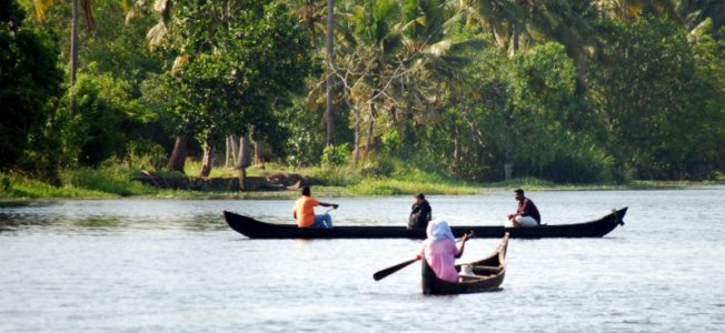 Nelle backwaters del Kerala  (foto di Patrick Colgan, 2016)