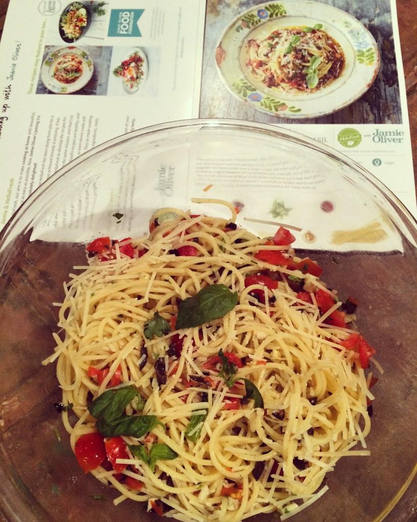 jamie olivers salsa spaghetti
