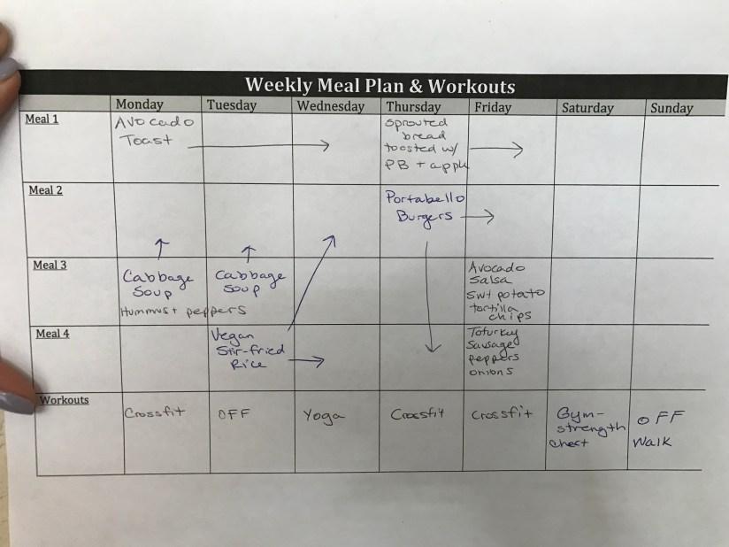 vegan meal plan week 2